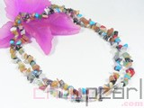 colorful irregular gemstone necklace wholesale