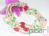pink 7-8mm freshwater pearl necklace wholesale