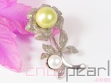 15mm and 10mm shell pearl brooch wholesale