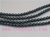 16inch 5-5.5mm AA+ grade Black Akoya Pearl strands