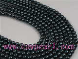 16inch 6-6.5mm AA Black Akoya pearl strands on sale