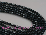 16inch 5.5-6mm AA Black Akoya loose pearl strands wholesale