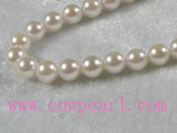 6-6.5mm AAA white akoya pearl strands 16-inch