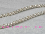 16 inch 6-6.5mm A+ white akoya pearl strands wholesale