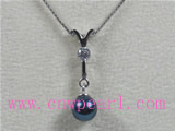 7-7.5mm black akoya pearl pendant on sale