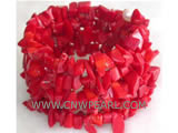 "7"" 8mm red gemstone natural coral bracelet"