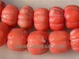 "16"" 15mm red column shape natural loose coral beads"