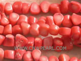 "16"" 14mm pink irregular loose coral beads"
