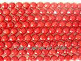 "16"" 5mm red face natural loose coral strand"