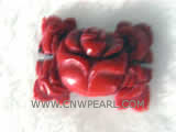 25-40mm red flower shape natural coral pendant