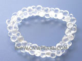 "7"" 8-10mm white cucurbit shape face crystal bracelet"
