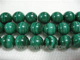 12mm green round malachite loose gemstone beads