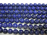 A 9mm blue round lapis lazuli loose gemstone beads