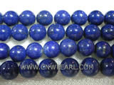 10mm blue round lapis lazuli loose gemstone beads
