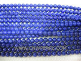 A 4mm blue round lapis lazuli loose gemstone beads