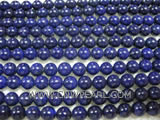 6mm blue round lapis lazuli loose gemstone beads