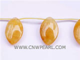 25-35mm golden raindrop jade loose gemstone beads