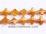 20mm golden latin cross jade loose gemstone beads