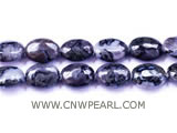 15-20mm purple elliptical loose gemstone beads