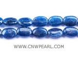 8-12mm blue elliptical apatite loose gemstone beads