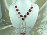 wholesale two strands 6-7mm freshwater coral necklace from China