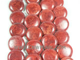 cute red coin shaped coral strand on wholesale