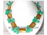 15-25mm  rectangle natural shell & melon seeds shape necklace