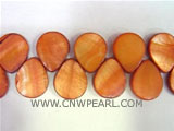 "16"" 15-20mm yellow melon seeds naturally loose shell beads"