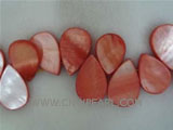 "16"" 15-20mm wine red melon seeds naturally loose shell beads"