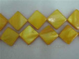 "16"" 20-22mm yellow quadrate naturally loose shell beads"
