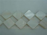 "16"" 20-22mm white quadrate naturally loose shell beads"