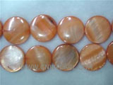 "16"" 8mm orange round loose shell strand"