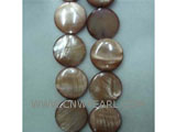 "16"" 8mm coffee round loose shell strand"