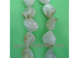 "16"" 7-8mm white irregular loose shell strand"
