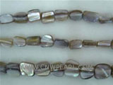"16"" 7-8mm gray column shape loose shell strand"