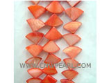 "16"" 6-7mm orange triangle loose shell strand"