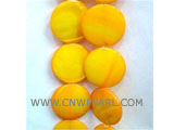 "16"" 15mm yellow round loose shell strand"