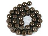 "shell pearl beads and 16""12mm brown loose pearl beads in strand"