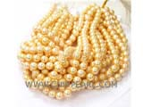 "golden south seashell pearl in strand 16"" AA 10mm pearls"