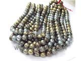 "16"" AA 10mm colorful south seashell pearl beads in strand"
