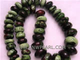 12mm multicolor abaci shape natural loose turquoise beads