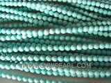 5mm blue round natural loose turquoise beads