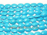 26mm blue elliptical natural loose turquoise beads