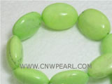 26mm green elliptical natural loose turquoise beads