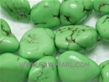 17mm green irregular natural loose turquoise beads