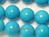 12mm blue round natural loose turquoise beads