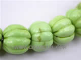 12mm green cushaw shape natural loose turquoise beads
