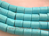 6-10mm blue column shape natural loose turquoise beads