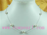white rice shaped tin cup pearl necklace wholesale