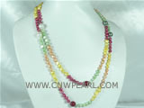 colorful freshwater pearls with multi-color shell pearl necklace